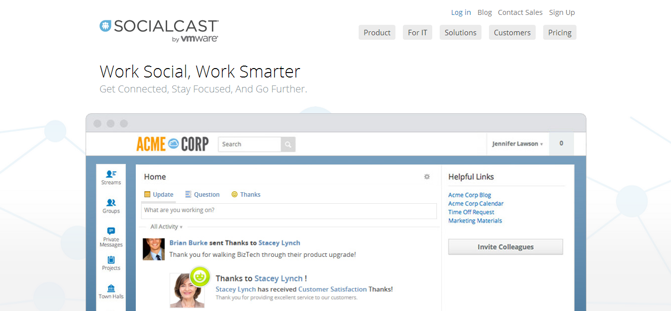 Enterprise Social Networking Collaboration Platform Socialcast