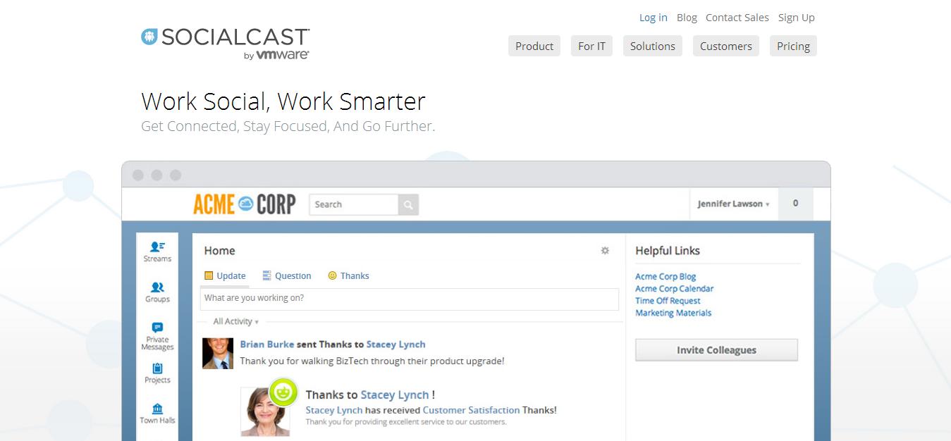 Enterprise Social Networking   Collaboration Platform   Socialcast