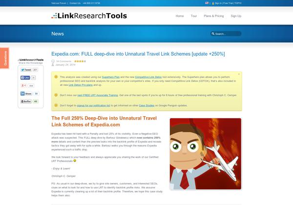 Expedia.com - FULL deep-dive into Unnatural Travel Link Schemes