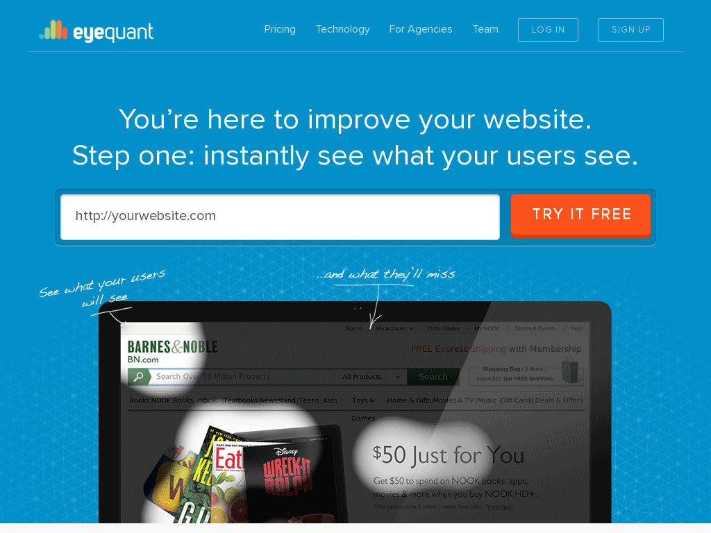 EyeQuant - Tracking Your Visitor Eye Movement