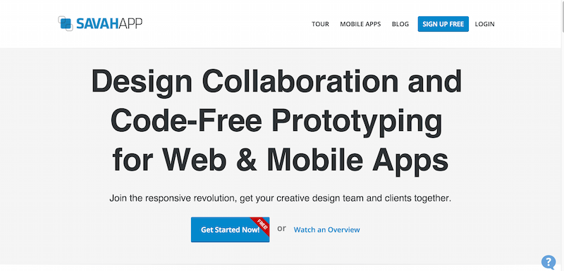 Free Design Collaboration   Interactive Prototyping for Web or Mobile Apps