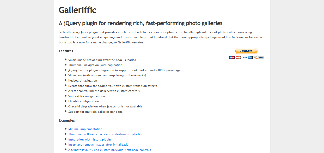 Galleriffic I A jQuery plugin for rendering fast-performing photo galleries
