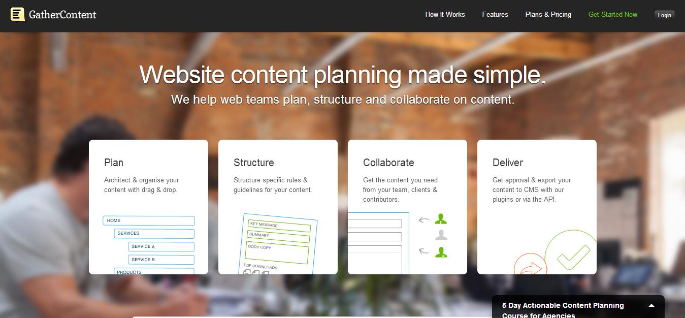 GatherContent — Simple Website Content Organisation   Collaboration.