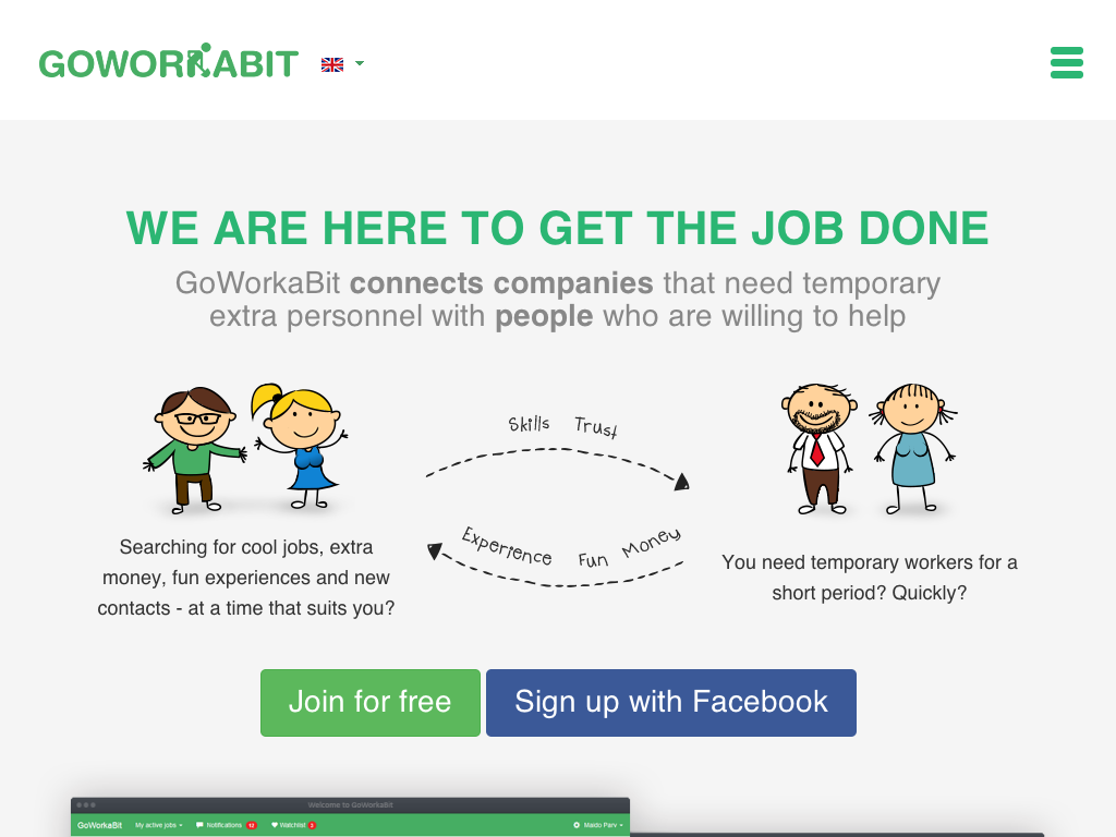 GoWorkaBit - Temporary Workforce for a Short Period