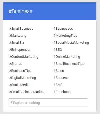 Google+ Adding Hashtags