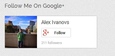 Google+ Badge Compact