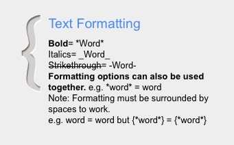 Google+ Text Formatting