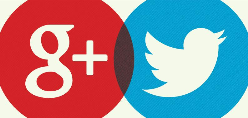 Google Plus and Twitter in One Image