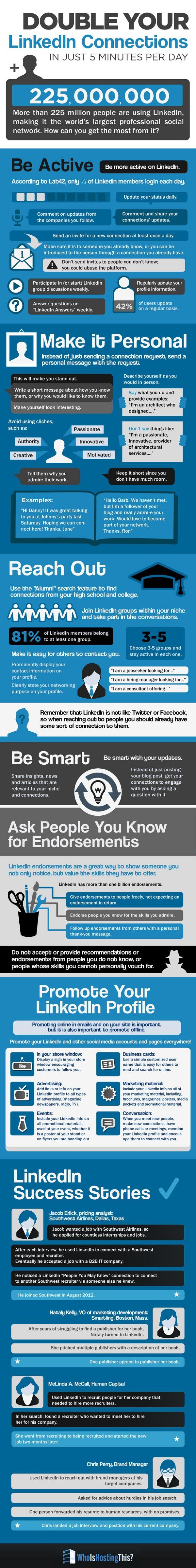 Increase LinkedIn Connections in 7 Steps [INFOGRAPHIC]