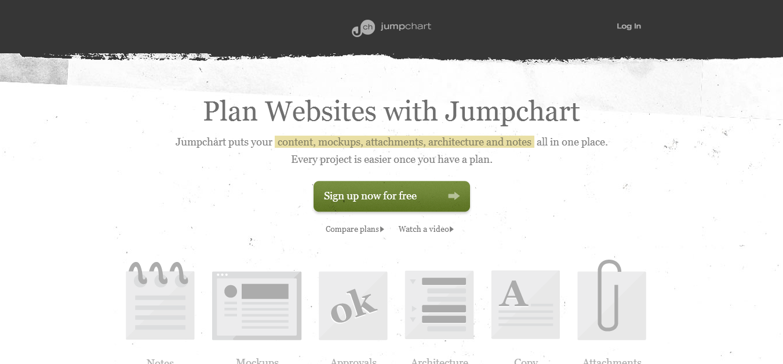 Jumpchart Website Planning and Organization