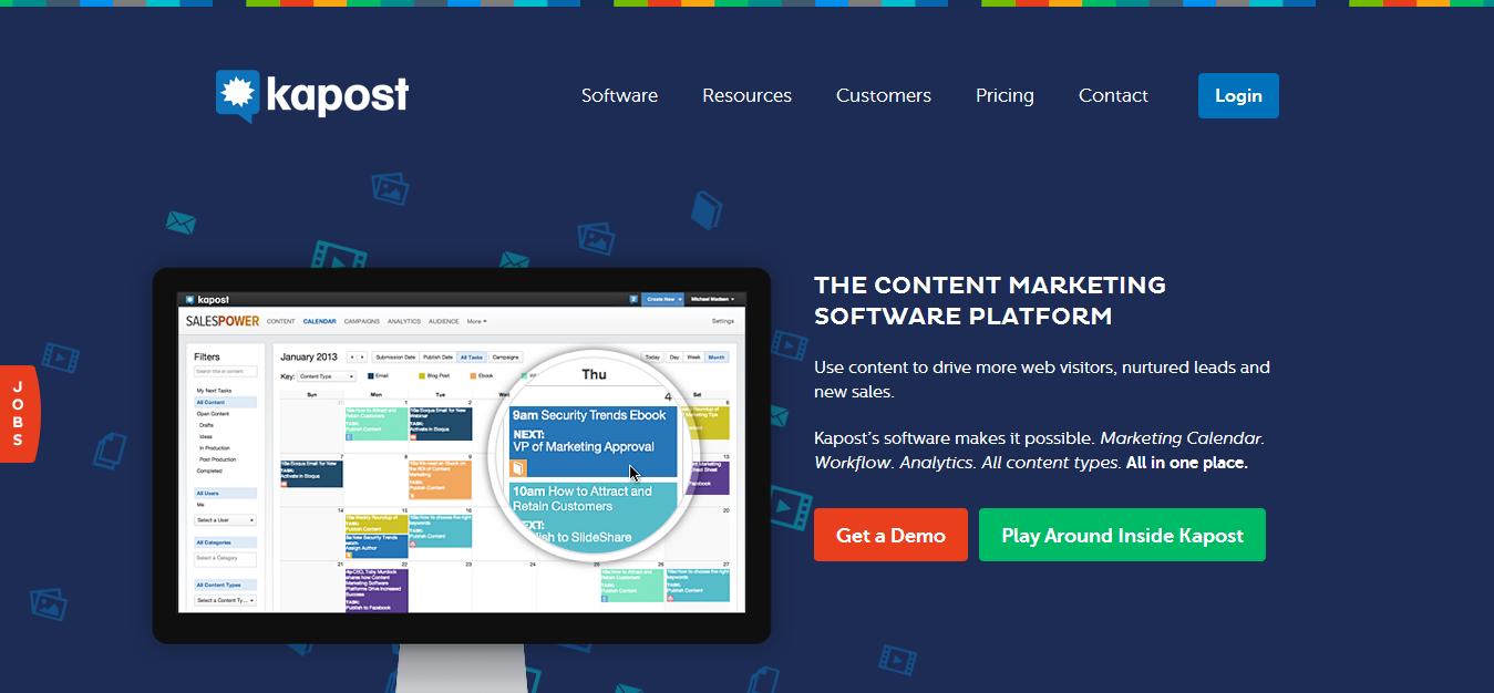 Kapost - Content Marketing Software   Content Marketing Platform