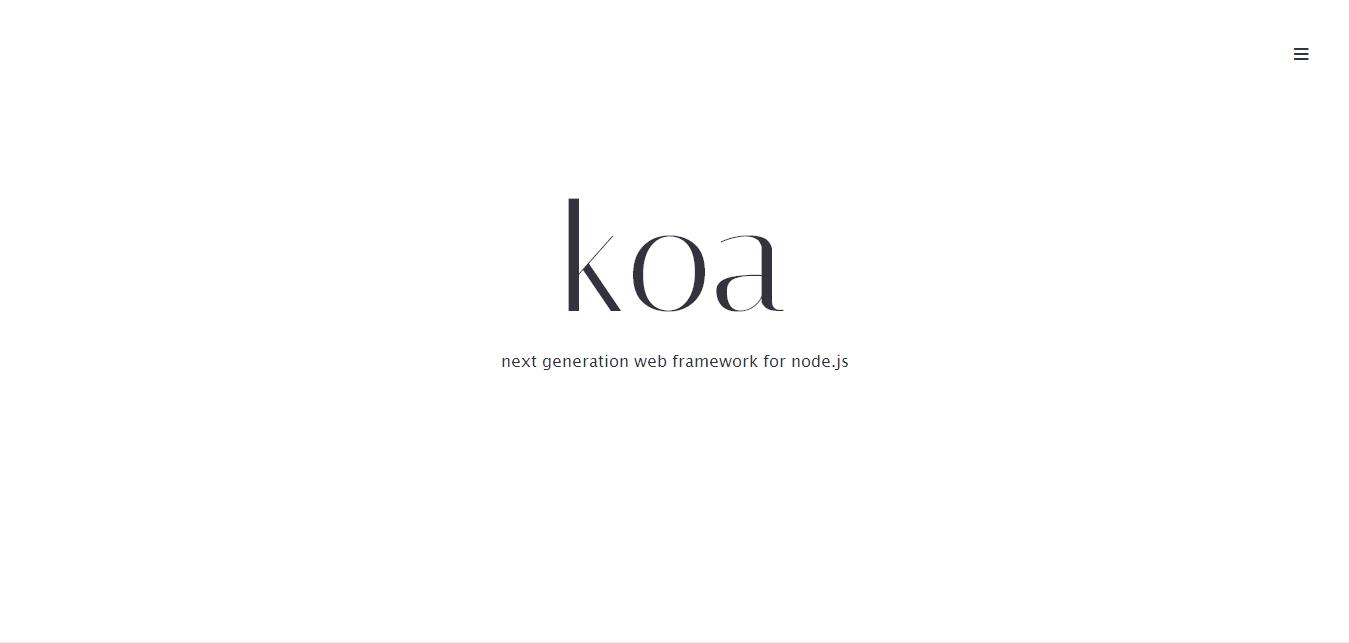 Koa - next generation web framework for node.js