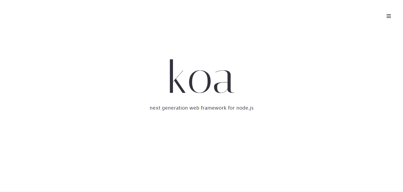 Koa - next generation web framework for node.js