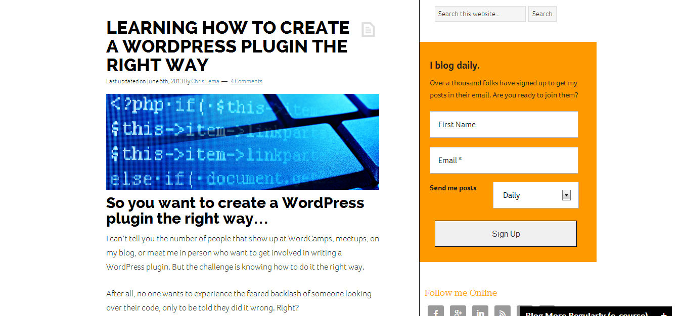 Learning how to Create a WordPress Plugin the Right Way