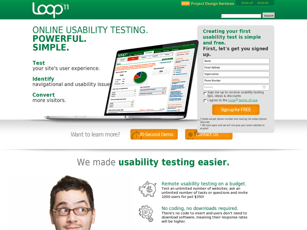 Loop11 - Usability Testing