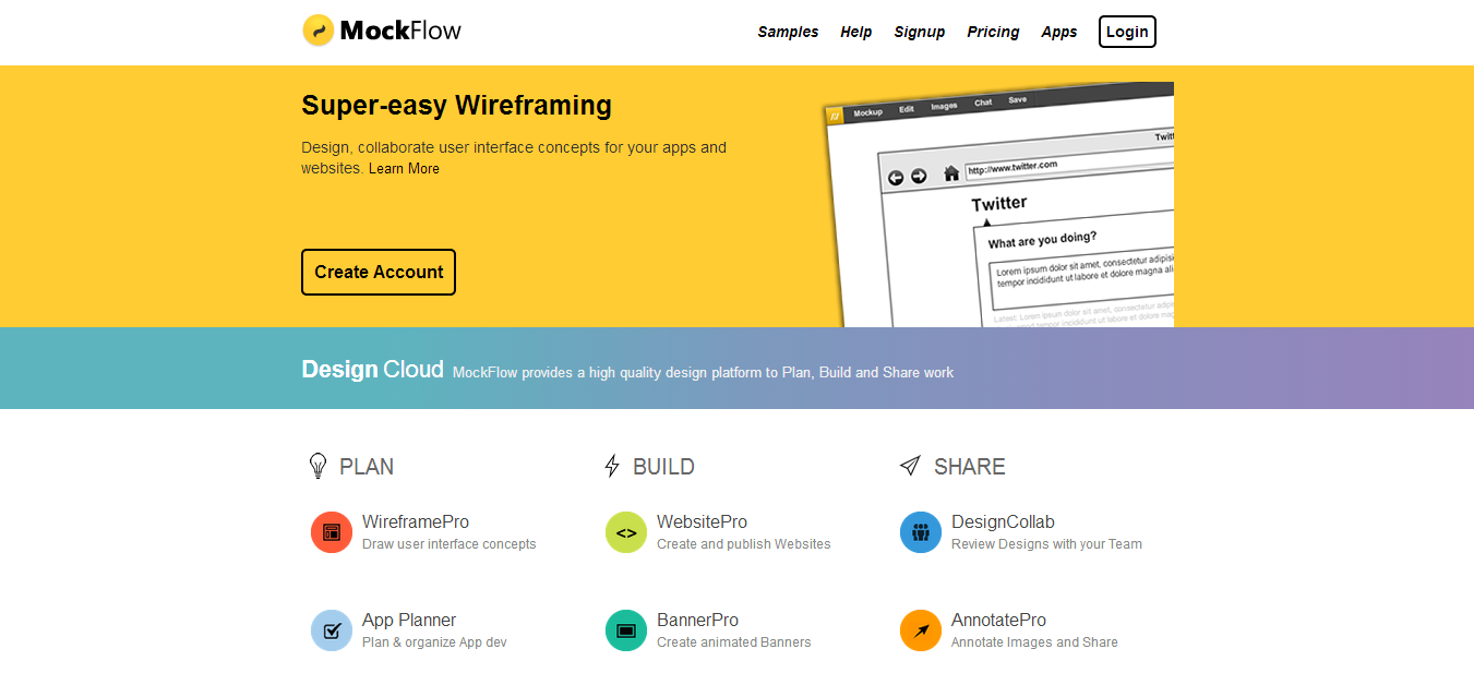 MockFlow Online Wireframe Tool and Design Cloud