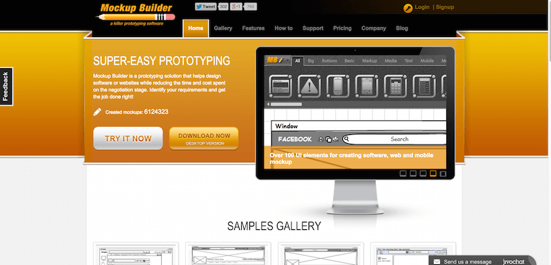 Mockup Builder — Online web prototyping wireframe tools  software