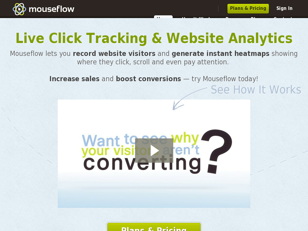 Mouseflow - Live Click Tracking & Website Analytics