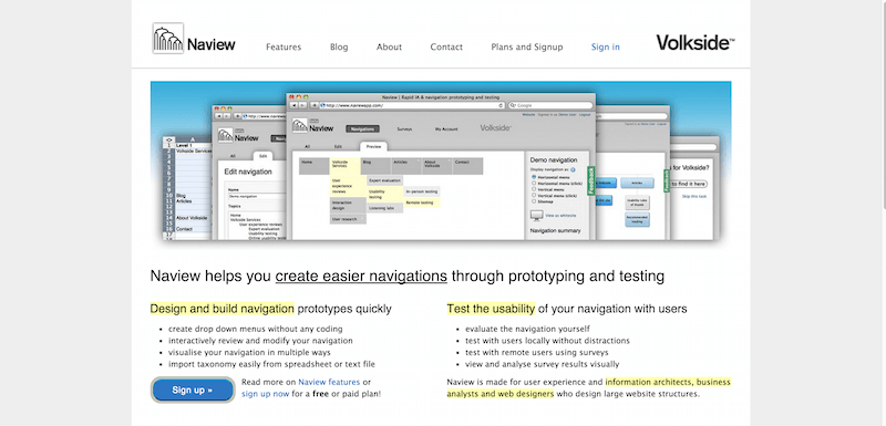 Naview   Create easier navigations through prototyping and testing