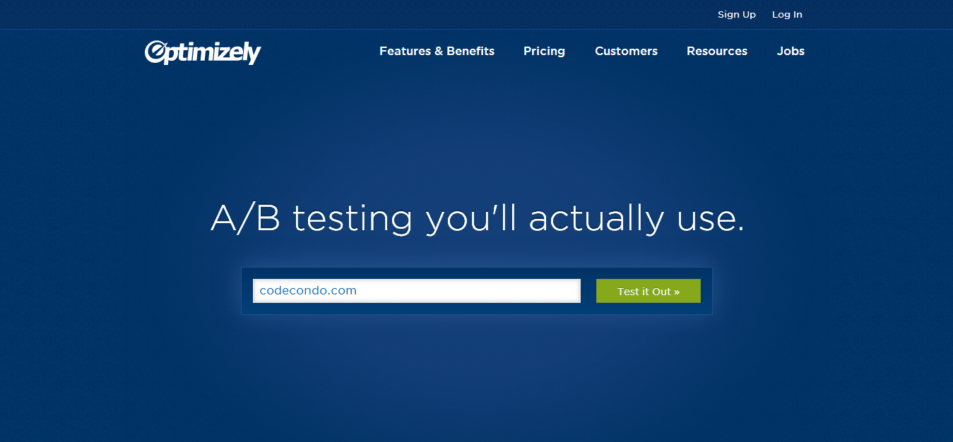 Optimizely A B testing software you ll actually use
