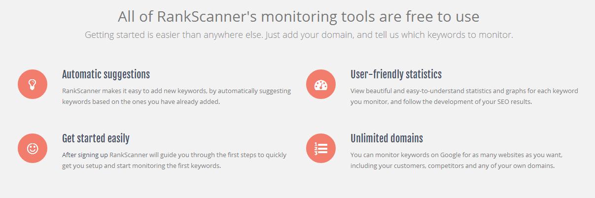 RankScanner Features