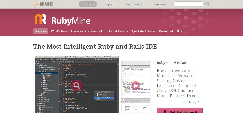 Ruby on Rails IDE    JetBrains RubyMine