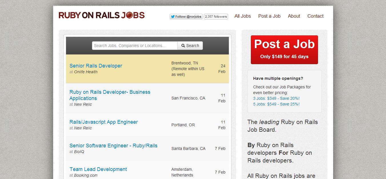 Ruby on Rails Jobs