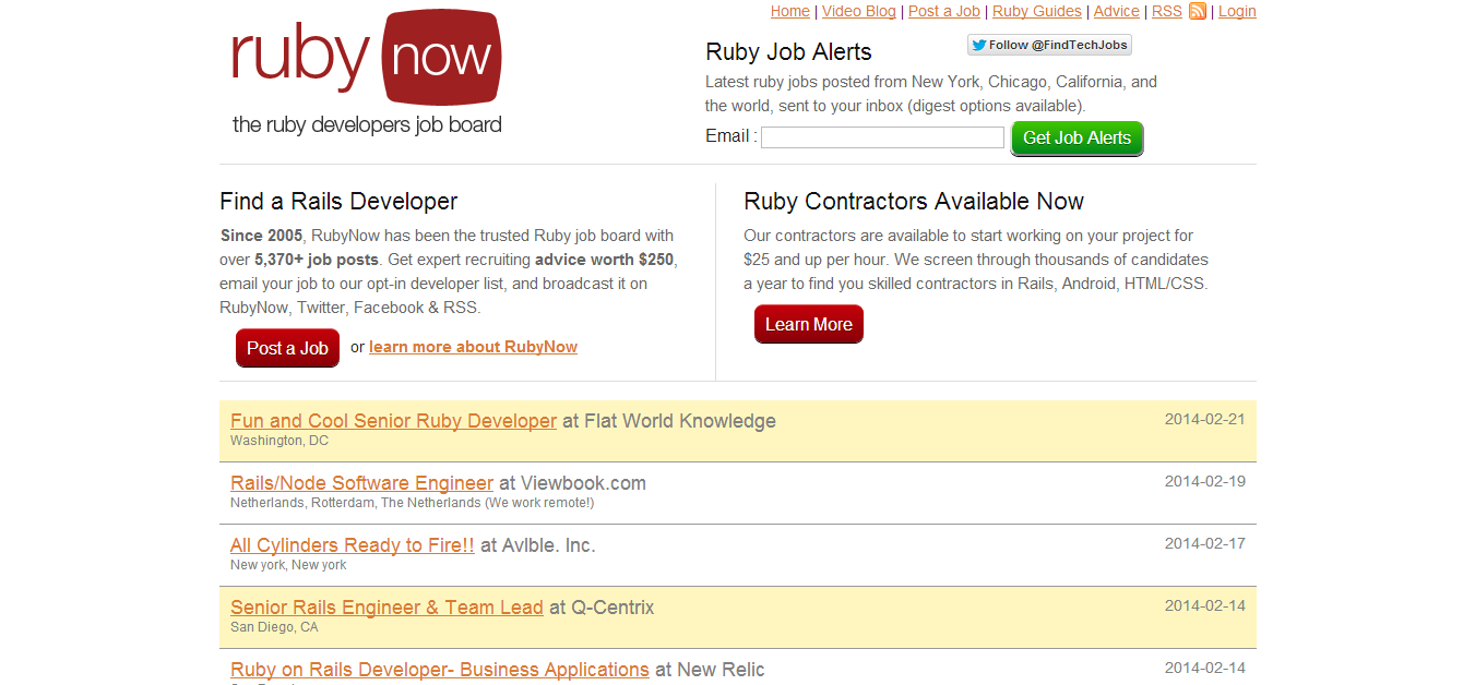 RubyNow - Ruby Jobs Board