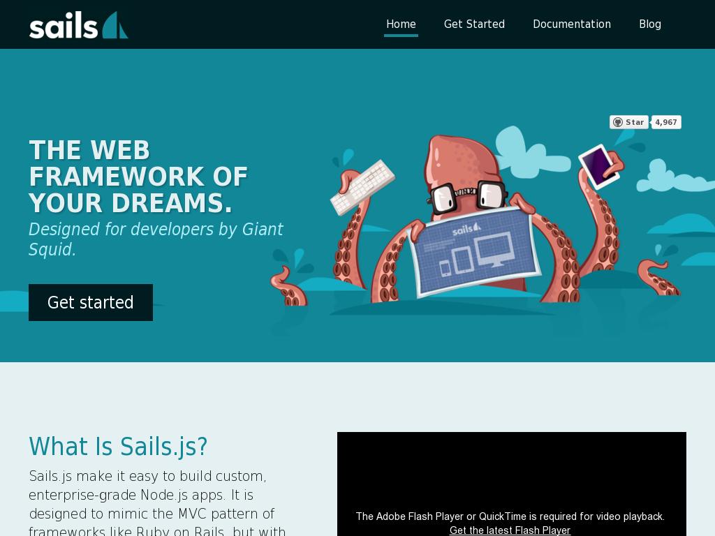 Sails.js - Realtime MVC Framework for Node.js