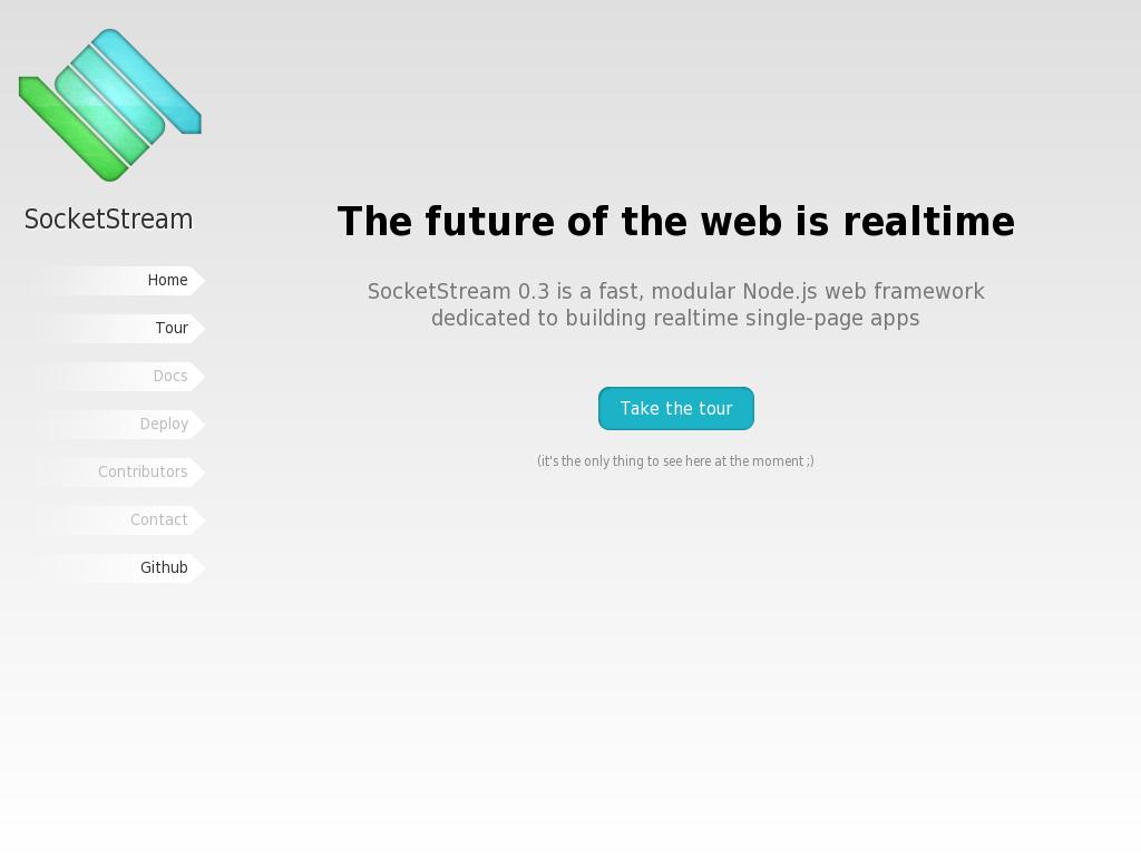 SocketStream - a fast, modular Node.js web framework