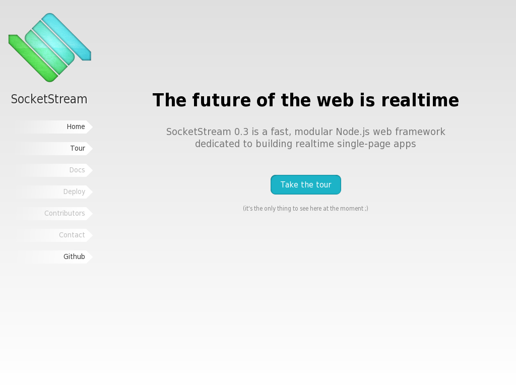 SocketStream - a fast, modular Node.js web framework