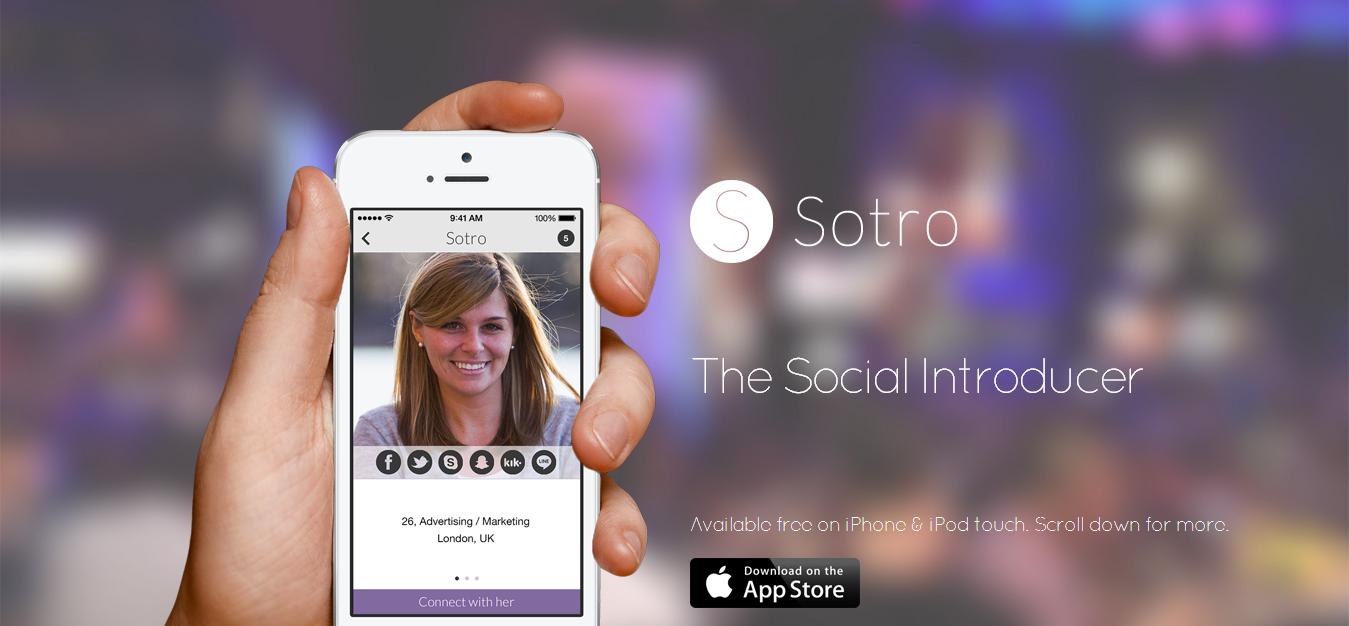 Sotro - Search and Connect With New People on Social Media
