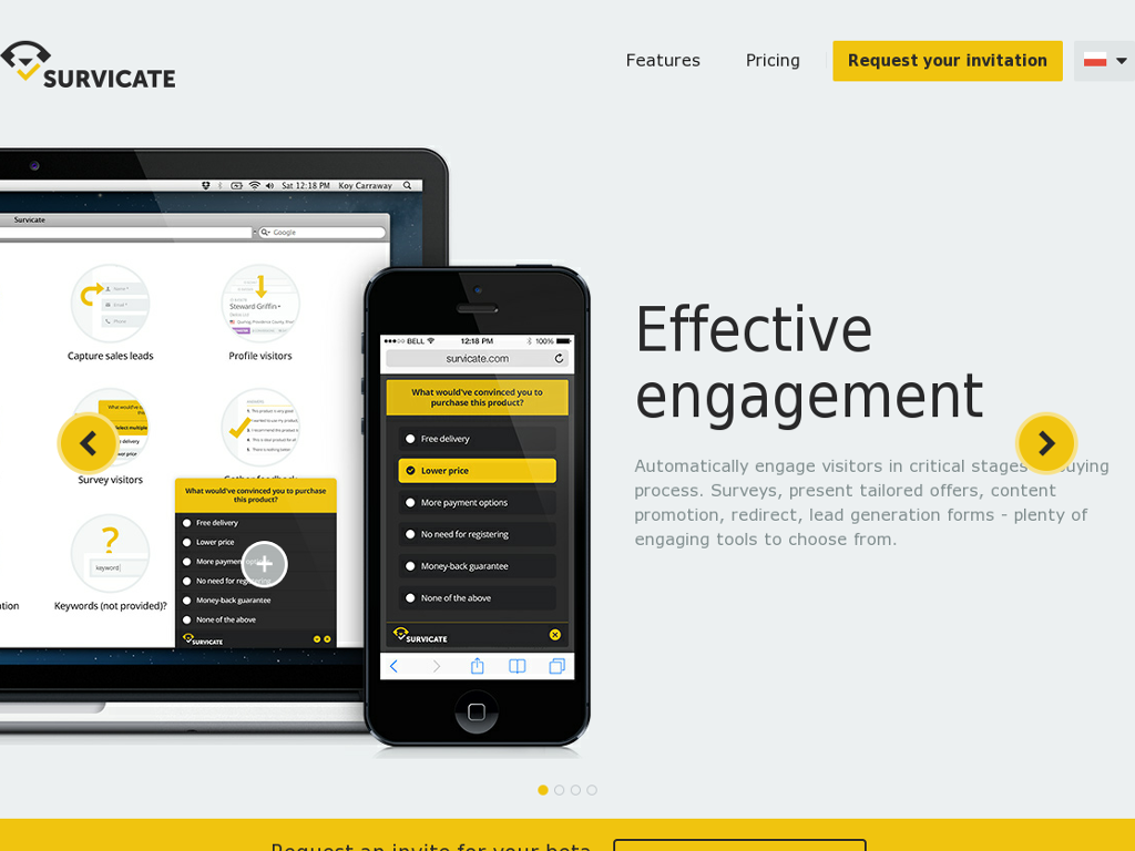 Survicate - Visitor Engagement and Discovery Platform
