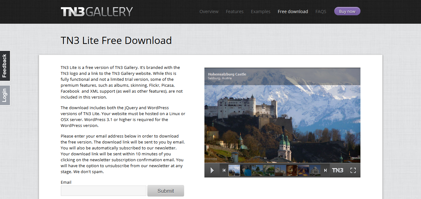 TN3 Lite Free Download I jQuery and WordPress Image Gallery