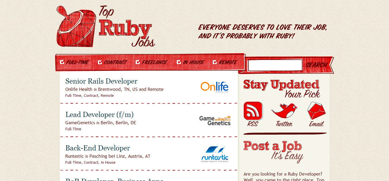 Top Ruby Jobs