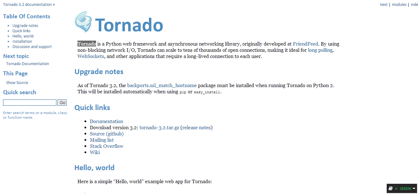 Tornado Web Server — Tornado 3.2 documentation