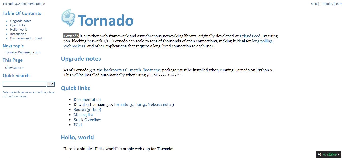 Tornado Web Server — Tornado 3.2 documentation