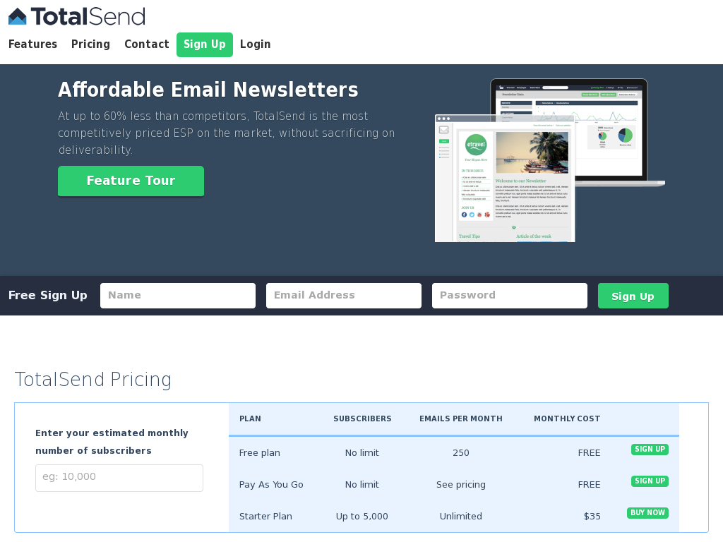 TotalSend - Affordable Email Newsletters for Business Owners