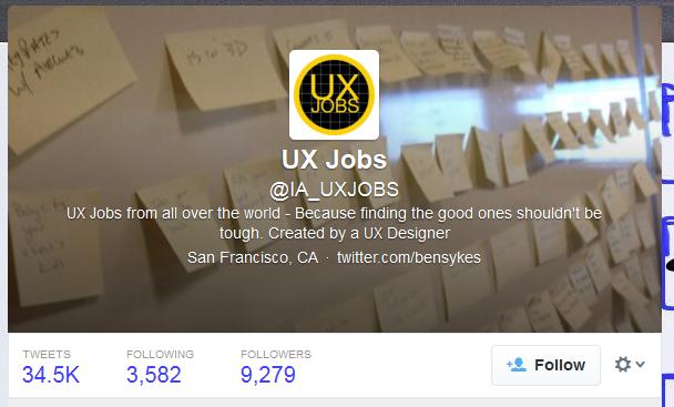 UX Jobs (IA_UXJOBS) on Twitter