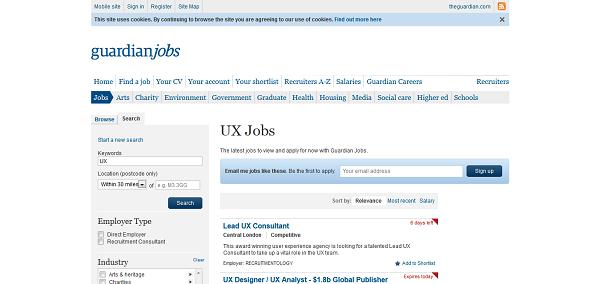 UX jobs I Guardian Jobs