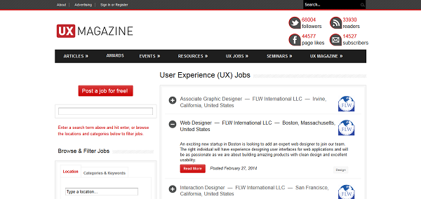 User Experience (UX) Jobs I UX Magazine