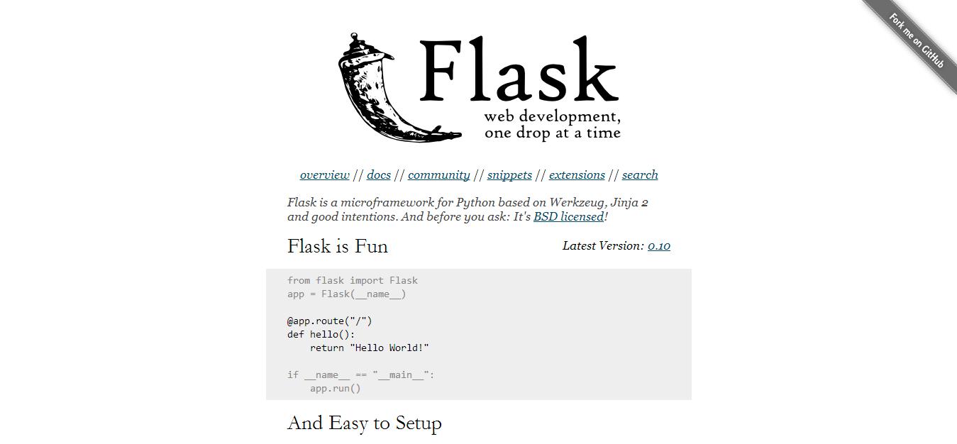 Welcome   Flask  A Python Microframework