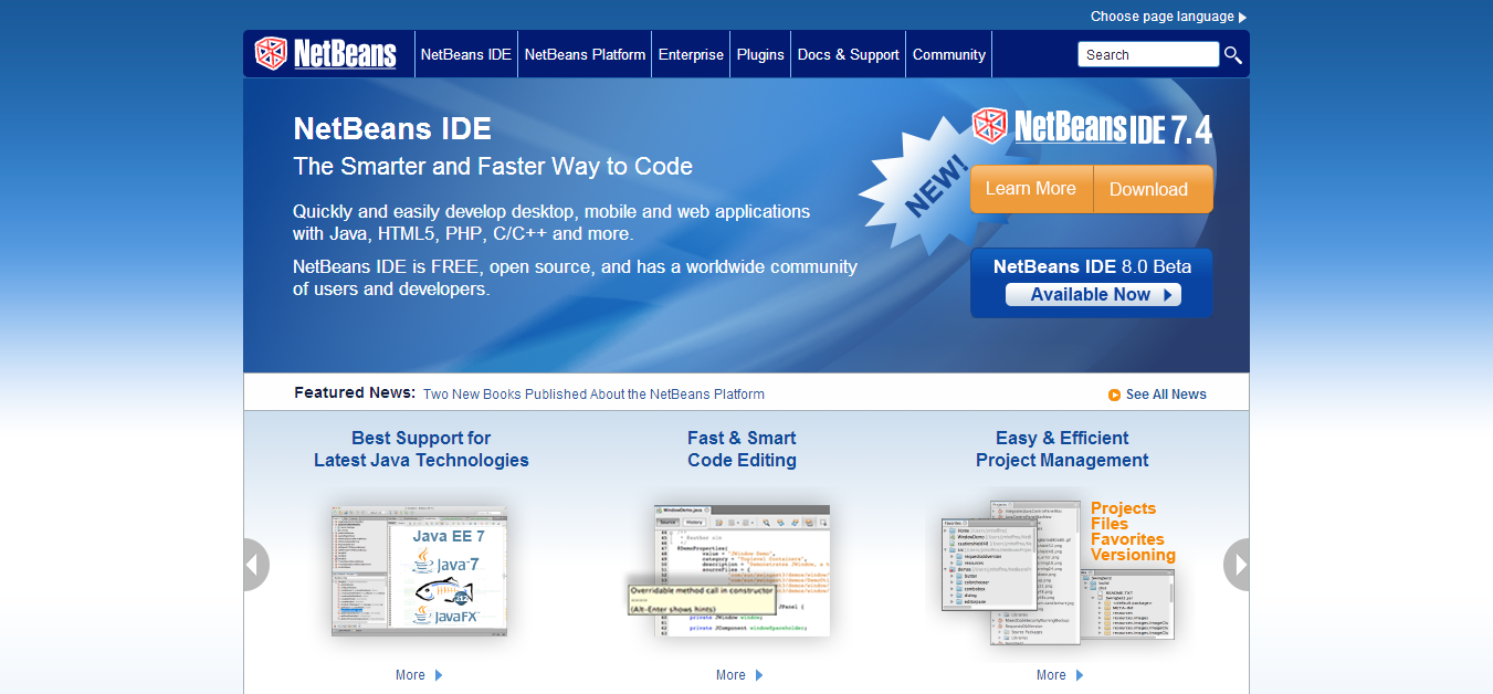 Welcome to NetBeans