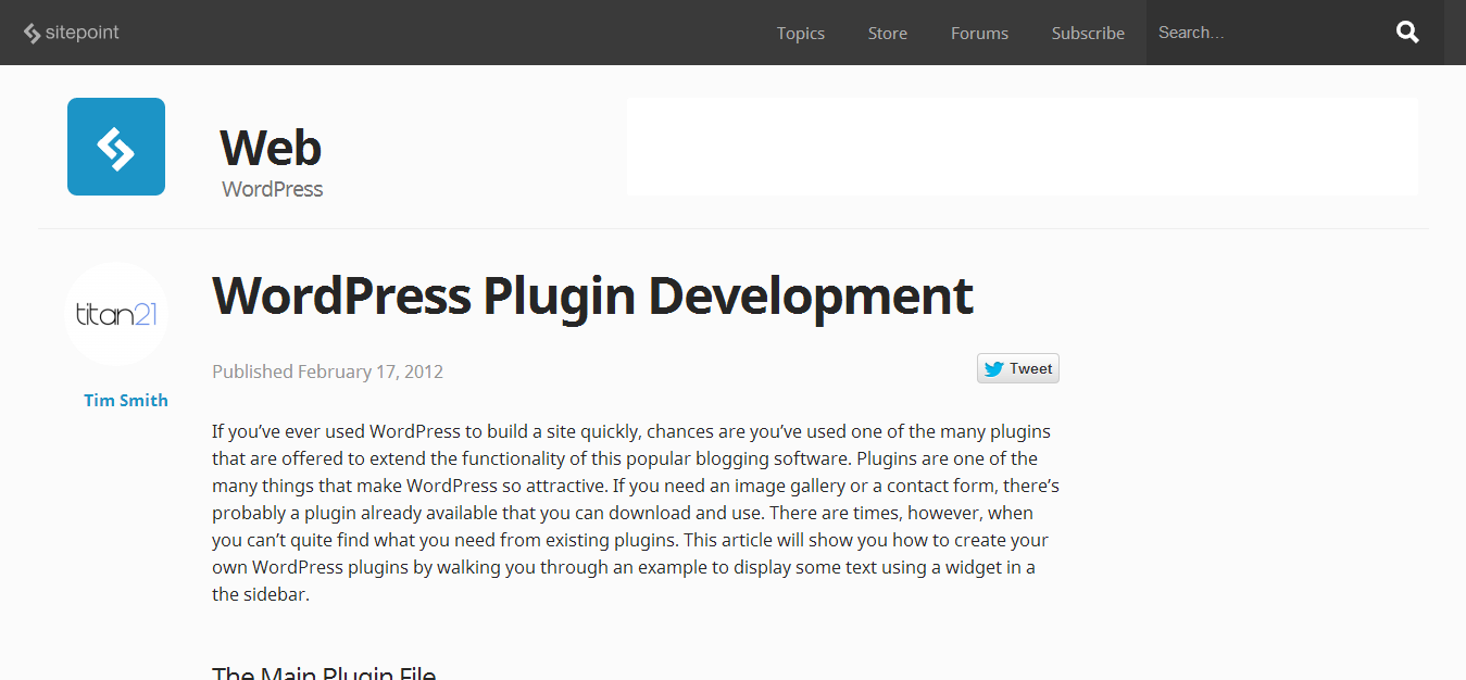 WordPress Plugin Development - SitePoint