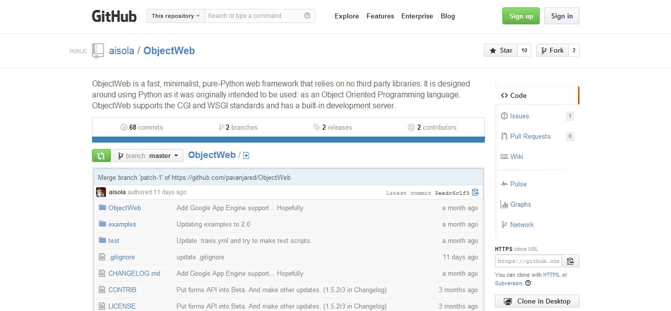 aisola ObjectWeb · GitHub