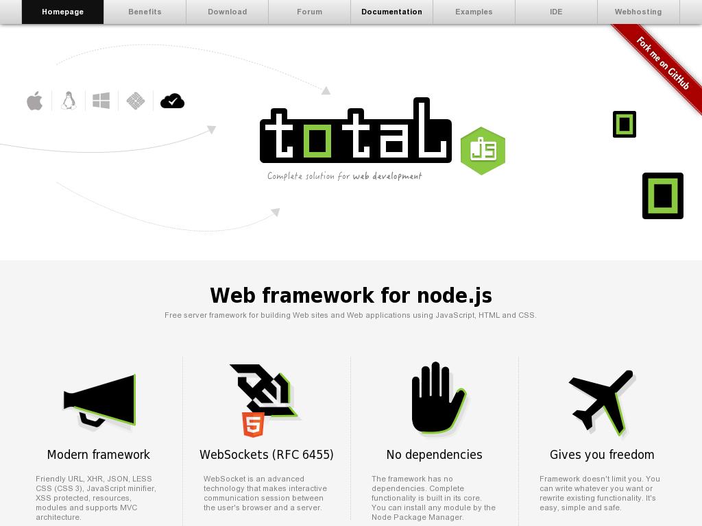 total.js - web framework for node.js