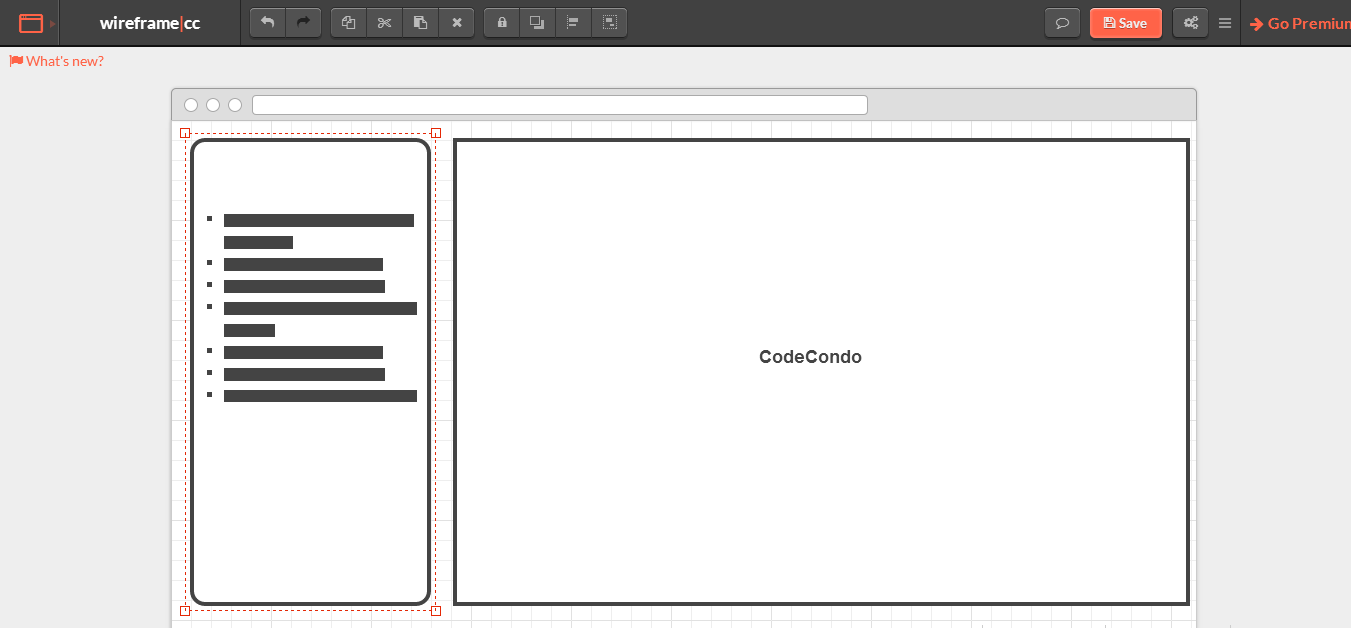 wireframe.cc minimal wireframing tool for free