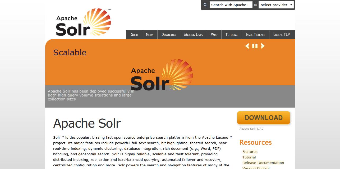 Apache Lucene   Apache Solr