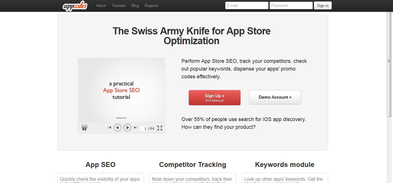 AppCodes - App Store SEO + iPhone and iPad app marketing