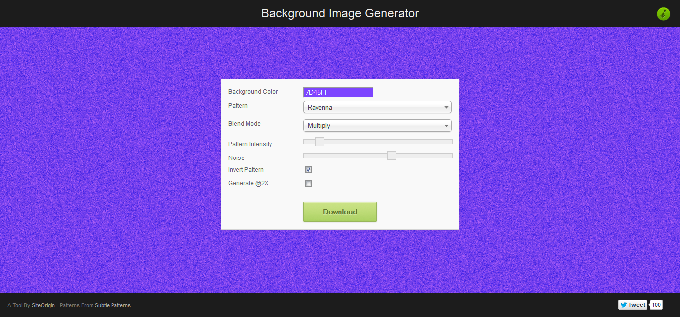 Background Image Generator - SiteOrigin